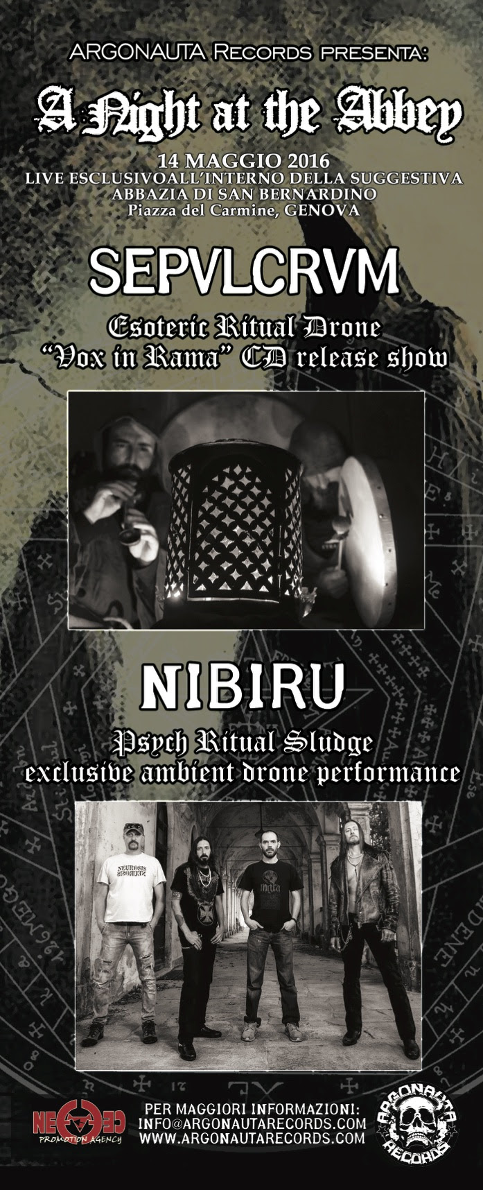 Sepvlcrvm - Nibiru - Abazia Di San Bernardino - A Night At The Abbey 2016 Promo
