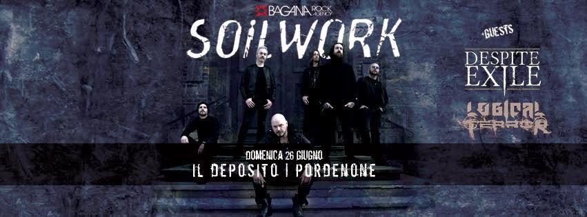 Soilwork + Despite Exile + Logical Terror @ Il Deposito 2016 Promo