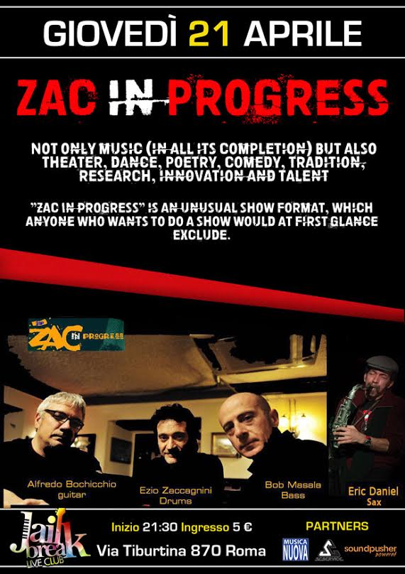 Zac In Progress Band a Roma @ Jailbreak Live Club 2016 Promo