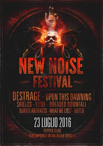 Destrage - Upon This Dawning - New Noise Festival - Pepper Club - 2016 Promo