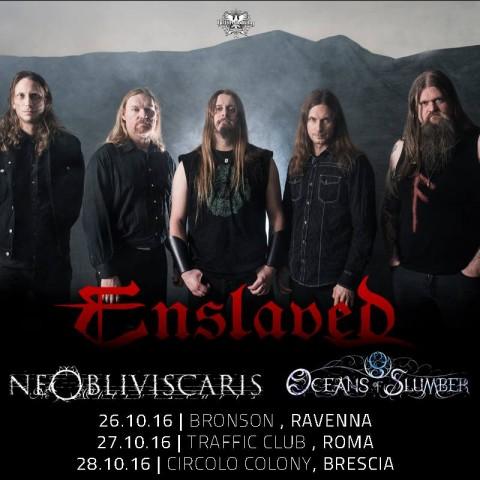 Enslaved - ne Obliviscaris - Oceans Of Slumber