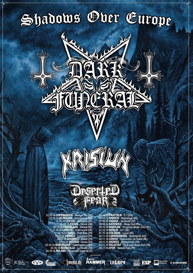 Dark Funeral - Krisiun - Deserted Fear - Magazzini Generali - Shadows Over Europe 2016 - Promo