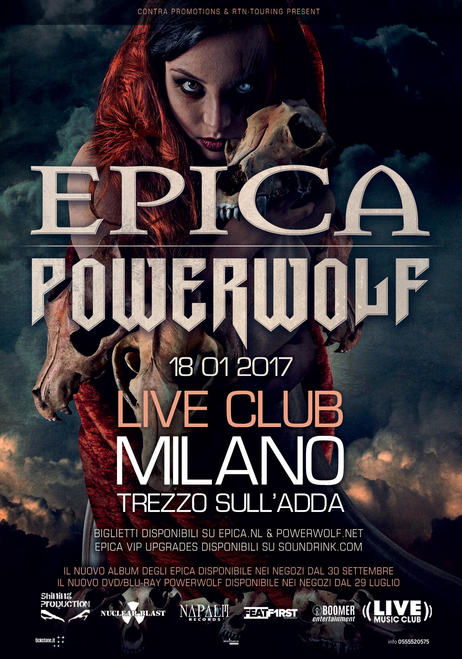 Epica - Powerwolf - Trezzo Sull' Adda - 2017 Promo
