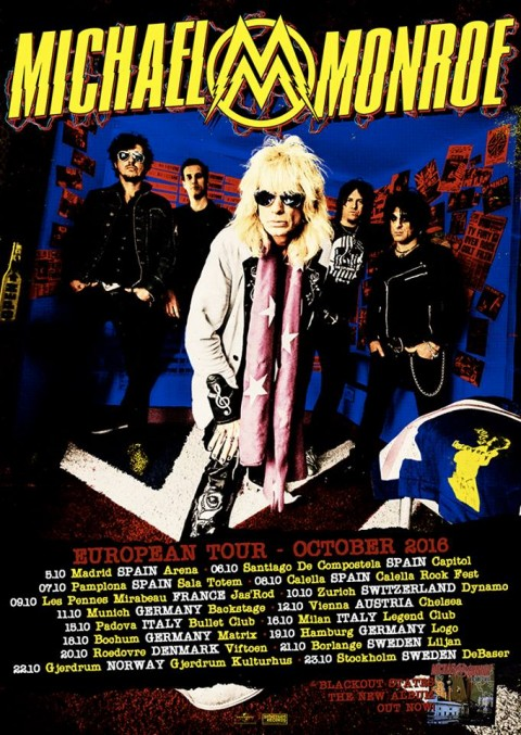 Michael Monroe - European Tour 2016 - Promo