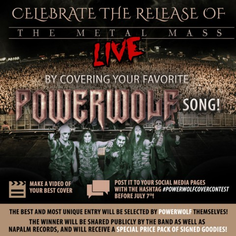 Powerwolf - The Metal Mass Live - DVD Contest Cover