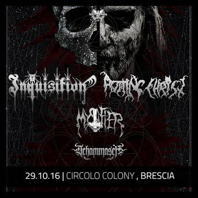 Inquisition - Rotting Christ - Schammasch - Mystifier - Circolo Colony 2016 - Promo