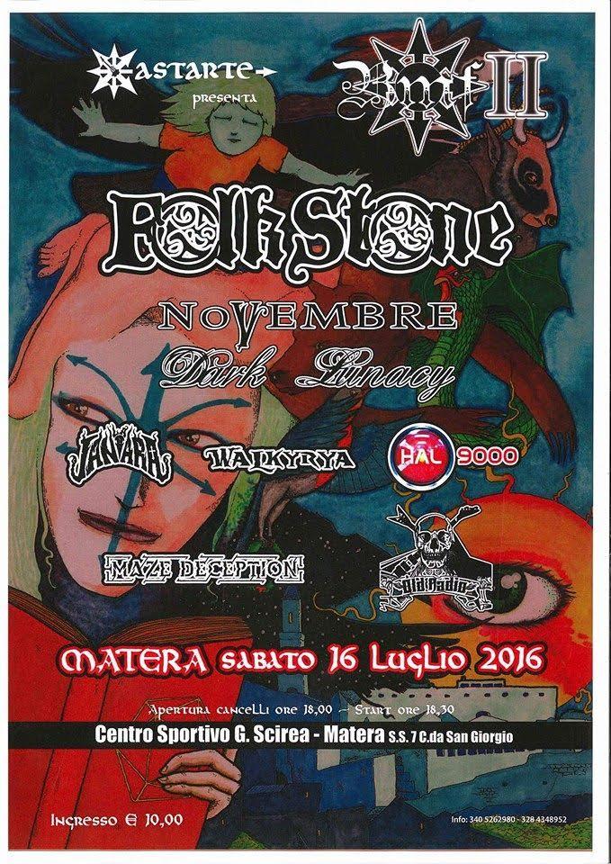 Novembre - Dark Lunacy - Basilicata Metal Fest II 2016 - Promo