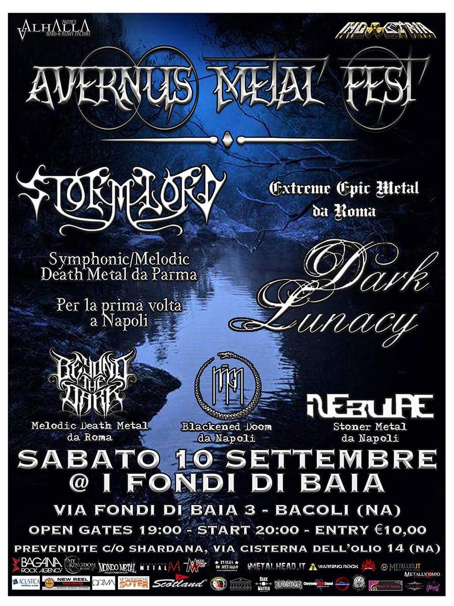 Stormlord - Dark Lunacy - Beyond The Dark - Naga - Nebulae - Avernus Metal Fest 2016 - Promo