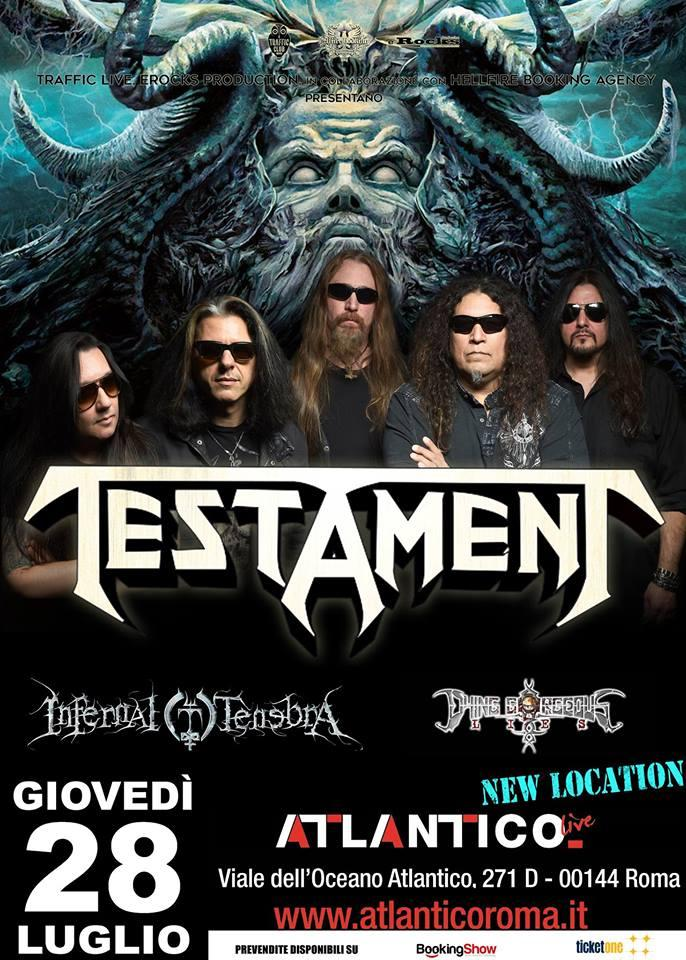 Testament - Infernal Tenebra - Dying Gorgeous Lies - Atlantico Live 2016 - Promo