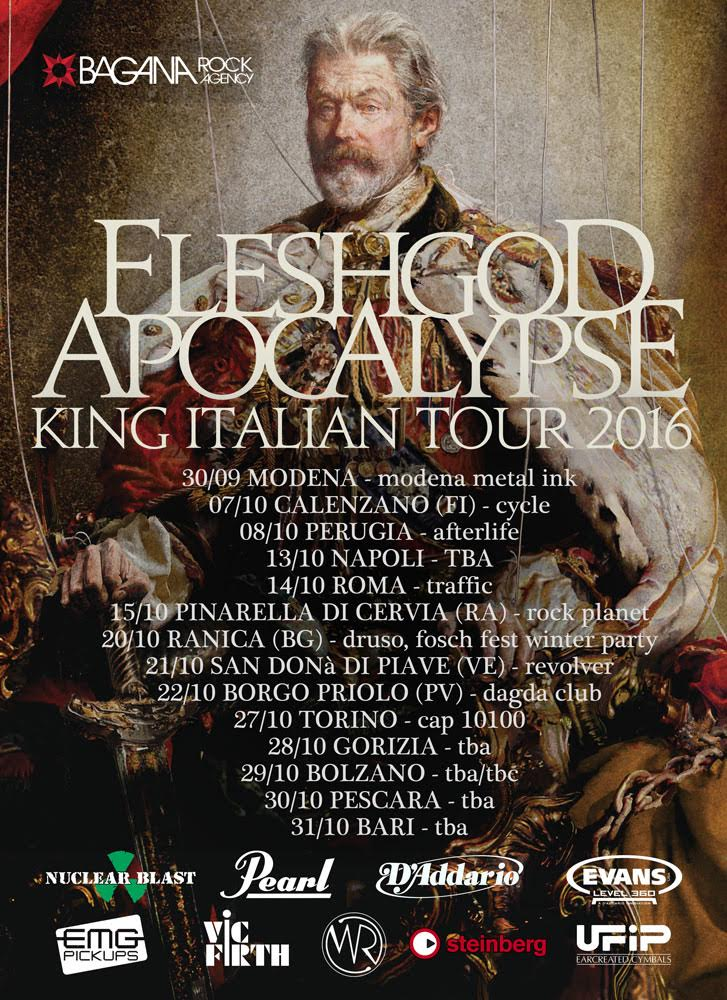 Fleshgod Apocalypse - King Italian Tour 2016 - Promo