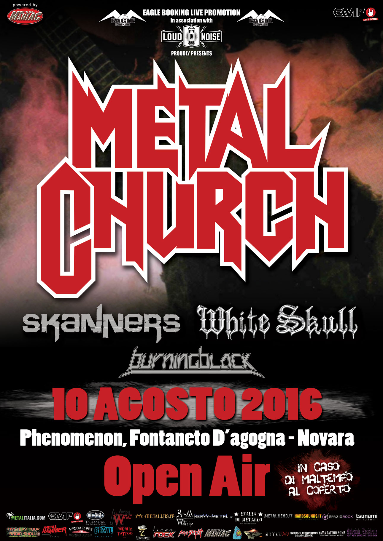 Metal Church - Skanners - White Skull - Burning Black - Phenomenon 2016 - Promo