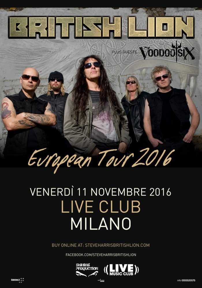 British Lion - Voodoo Six - Live Music Club - European Tour 2016 - Promo