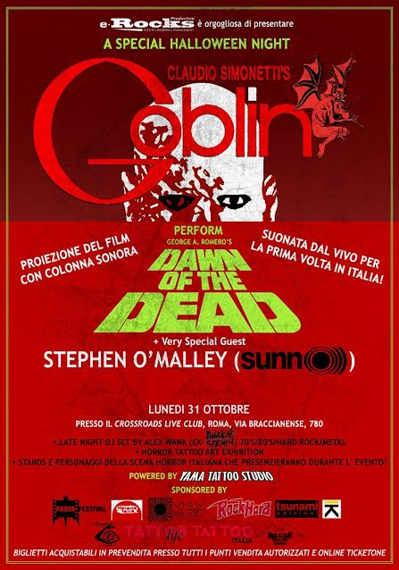 Claudio Simonetti' s Goblin - Stephen O' Malley - A Special Halloween Night - Crossroads 2016 - Promo