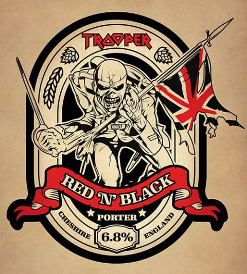 Iron Maiden - Trooper Red 'N' Black - Beer Promo