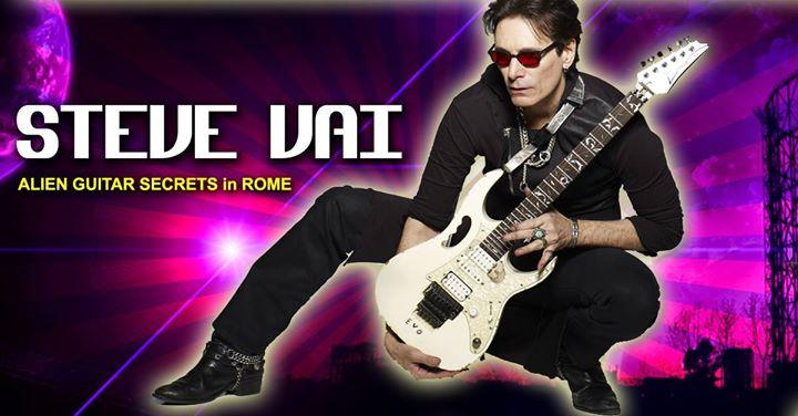 Steve Vai - Alien Guitar Secrets - Rome 2016 - Promo