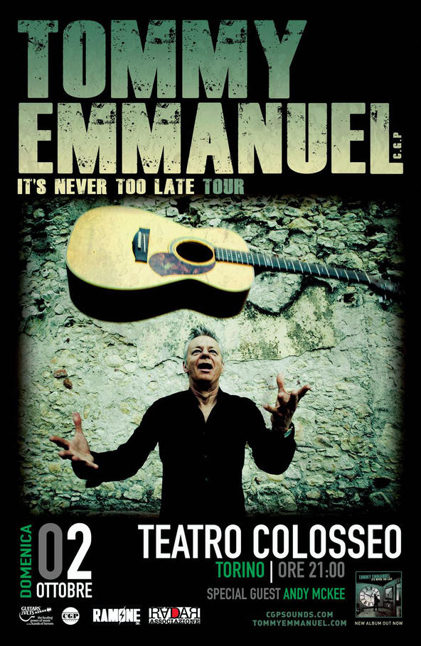 Tommy Emmanuel - Teatro Colosseo - It's Never Too Late 2016 - Promo