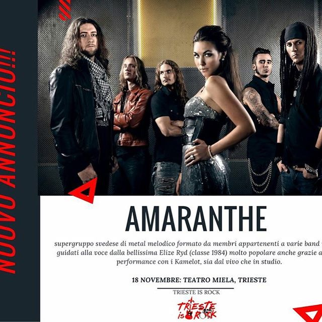 Amaranthe -Teatro Miela 2016 - Promo