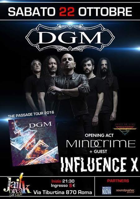 DGM - Mindcrime - Influence X - Jailbreak Live Club 2016 - Promo