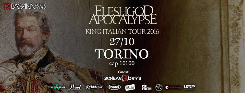 Fleshgod Apocalypse - Scream 3 Days - King Italian Tour 2016 - Promo