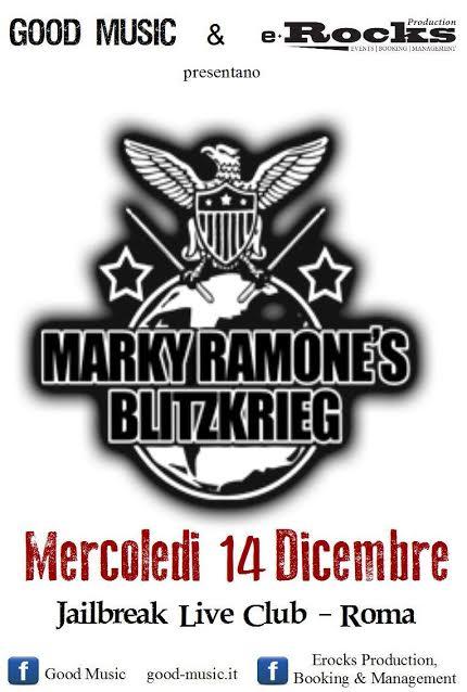 Marky Ramone's Blitzkrieg - Jailbreak Live Club 2016 - Promo