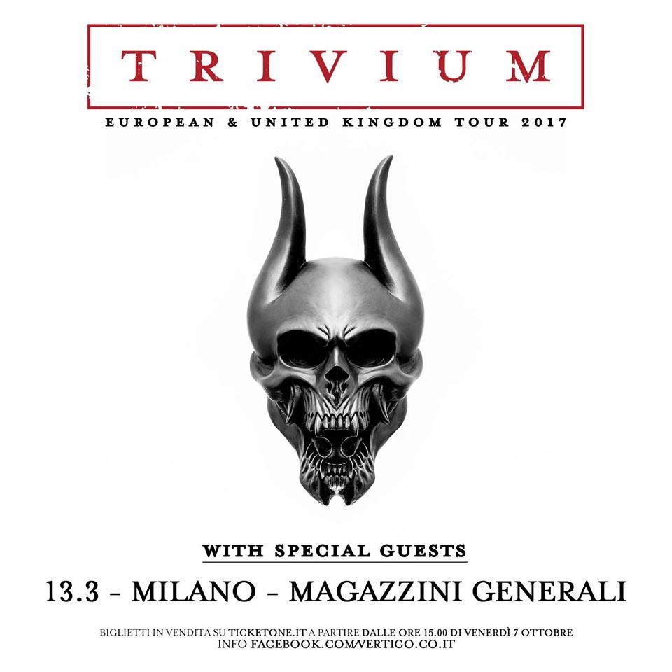 Trivium - Magazzini Generali - European & United Kingdom 2016 - Promo