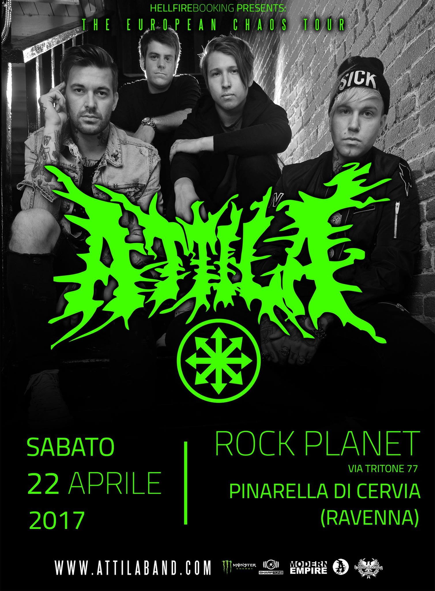 Attila - Rock Planet - The European Chaos Tour 2017 - Promo