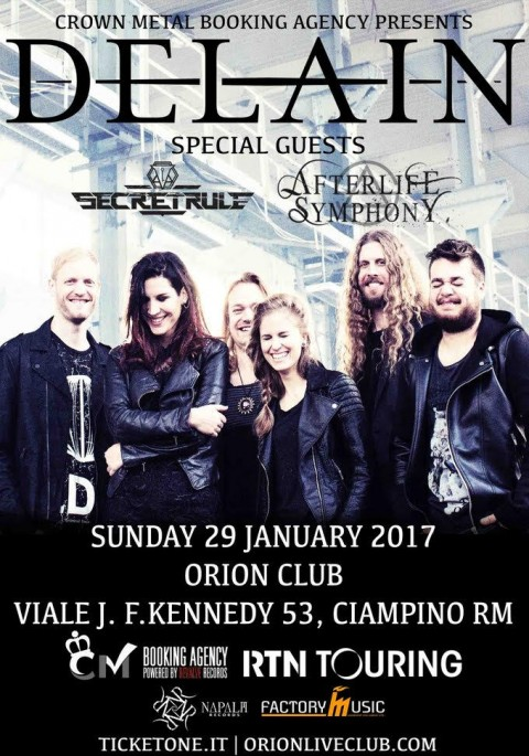Delain - Secret Rules - Afterlife Symphony - Orion Live Club 2017 - Promo