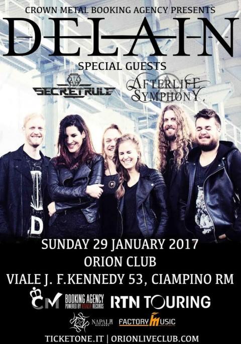 Delain - Secret Rules - Afterlife Symphony - Orion Live Club 2017 - Promo