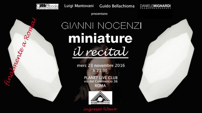 Gianni Nocenzi - Miniature - Il Recital - Planet Live Club 2016 - Promo