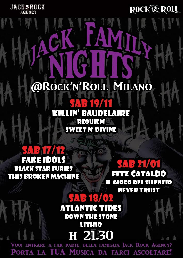 Jack Family Nights - Rock N Roll Club Milano 2016 - 2017 - Promo
