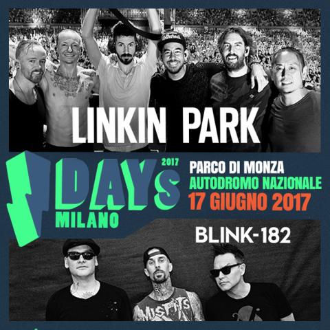 Linkin Park - Blink-182 - I - Days - Parco Di Monza - Autodromo Nazionale 2017 - Promo