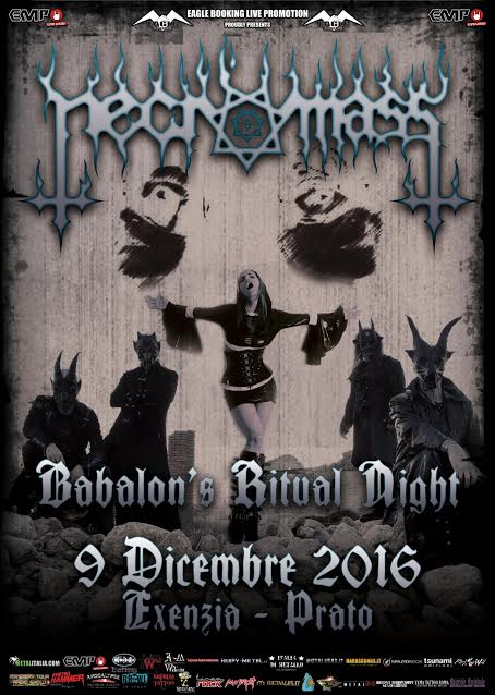 Necromass - Babalon's Ritual Night - Exenzia Rock Club 2016 - Promo