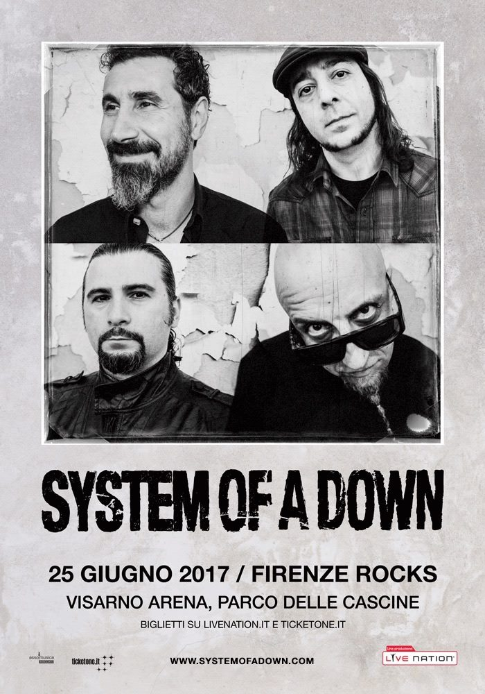 System Of A Down - Visarno Arena - Parco Delle Cascine - Firenze Rocks Fest 2017 - Promo
