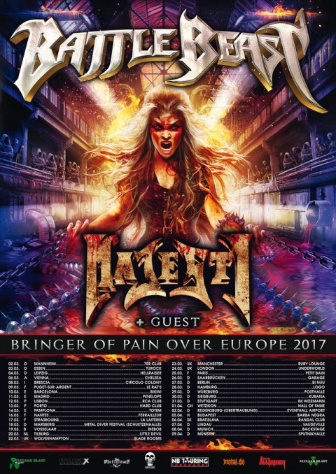 Battle Beast - Circolo Colony - Bringer Of Pain Over Europe Tour 2017 - Promo