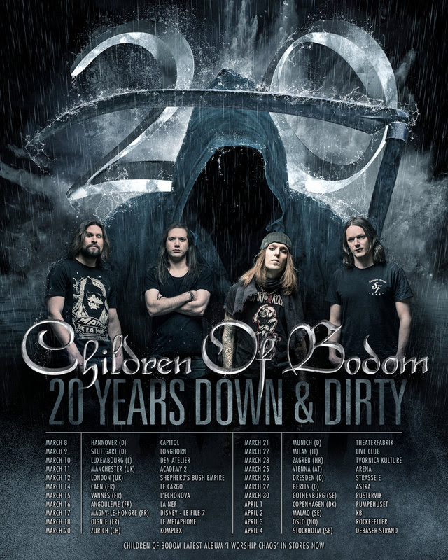 Children Of Bodom - 20 Years Down And Dirty - Tour 2017 - Promo