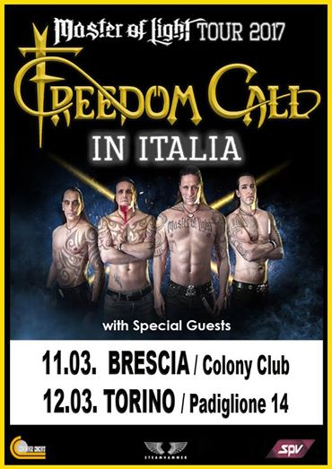 Freedom Call - Master Of Light Tour 2017 - Promo