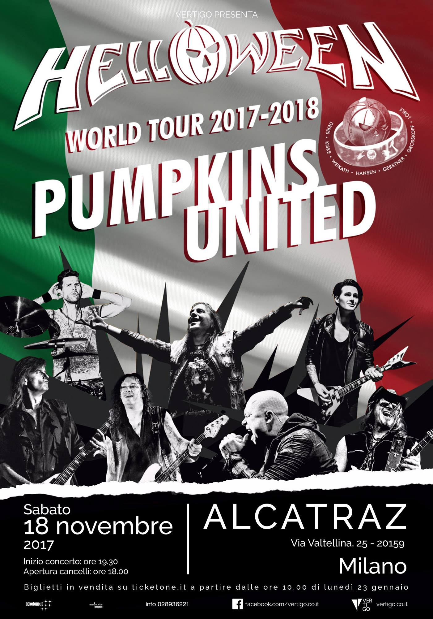 Helloween - Alcatraz - Pumpkins United World Tour 2017 - 2018 - Promo
