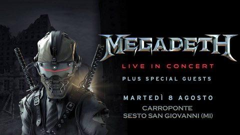 Megadeth - Carroponte - Tour 2017 - Promo