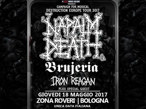 Napalm Death - Brujeria - Iron Reagan - Tour 2017 - Promo