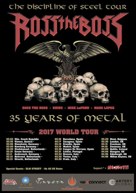 Ross The Boss - The Discipline Of Steel World Tour 2017 - Promo
