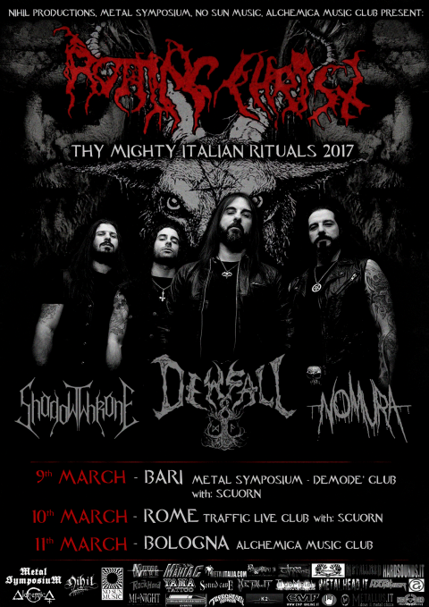 Rotting Christ - Shadowthrone - dewfall - Nomura - Thy Mighty Italian Rituals - Tour 2017