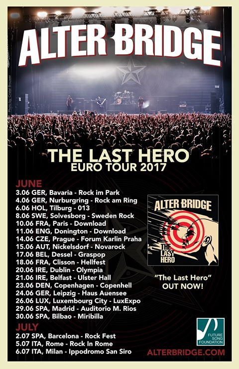 Alter Bridge - The Last Hero - Euro Tour 2017 - Promo