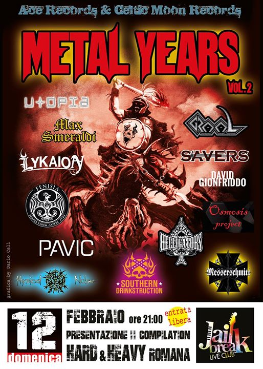 Metal Years Vol II - Messerschmitt - Graal - Fenisia - Jailbreak Live Club 2017 - Promo