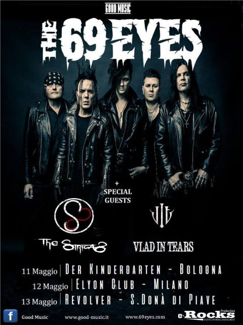 The 69 Eyes - The Strigas - Vlad In Tears - Tour 2017