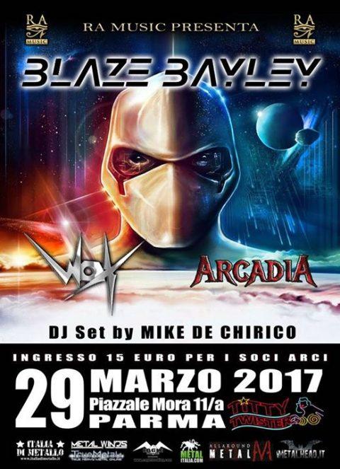 Blaze Bayley - Wox - Arcadia - Titty Twister - Tour 2017 - Promo