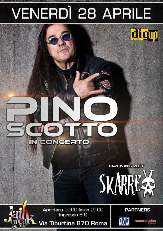 Pino Scotto live con il Live for a Dream Tour @ Jailbreak - 28 04 2017