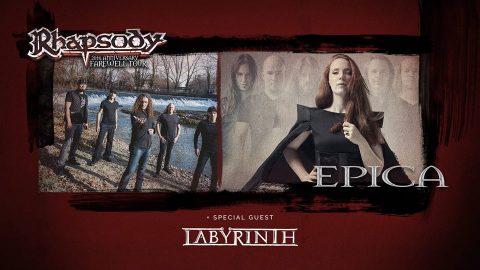 Rhapsody a Milano con Epica e Labyrinth - Tour 2017 - Promo