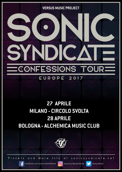 Sonic Syndicate - Confessions Tour 2017 - Promo