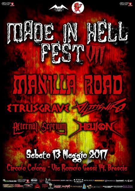 Manilla Road - Helikon - Aeternal Seprium - Alltheniko - Etrusgrave - Circolo Colony - Tour 2017