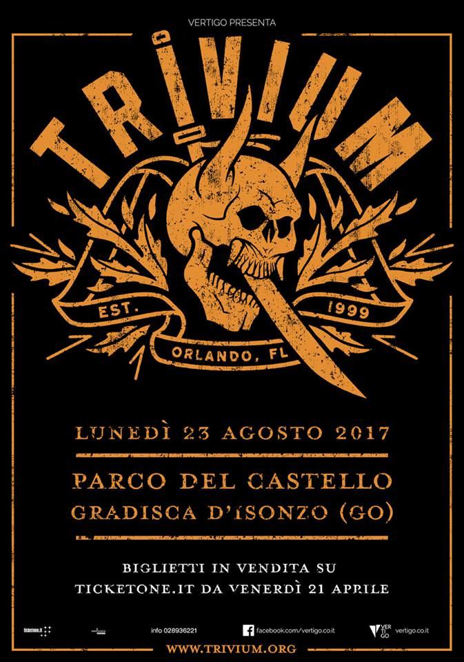Trivium - Parco Del Castello - Tour 2017 - Promo